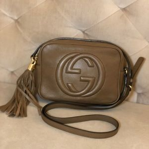 authentic GUCCI Soho Disco bag, brown leather